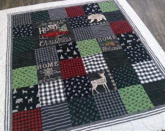 Country Christmas quilt kit...DIY Christmas Quilt kit, holiday kit, Moda Fabrics...designed by Mickey Zimmer for Sweetwater Cotton Shoppe