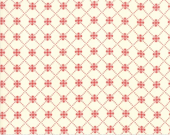 Scarlet and Sage Ivory Scarlet 20367 25 by Joanna Figueroa of Fig Tree Quilts for moda fabrics