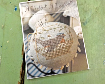 A Tisket A Tasket by Brenda Gervais of With Thy Needle & Thread...cross-stitch design