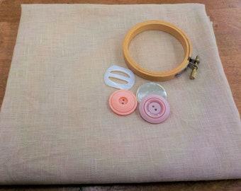 R & R Reproductions, Olde Towne Blend, 32 ct, Fat Quarter, 100% linen, cross stitch linen