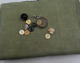 Weeks Dye Works, Kudzu, 30ct, Fat Quarter, 100% linen, cross stitch linen