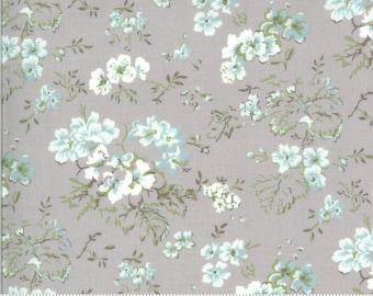 Dover Field Floral Grey 18700 14 by Brenda Riddle for Moda Fabrics