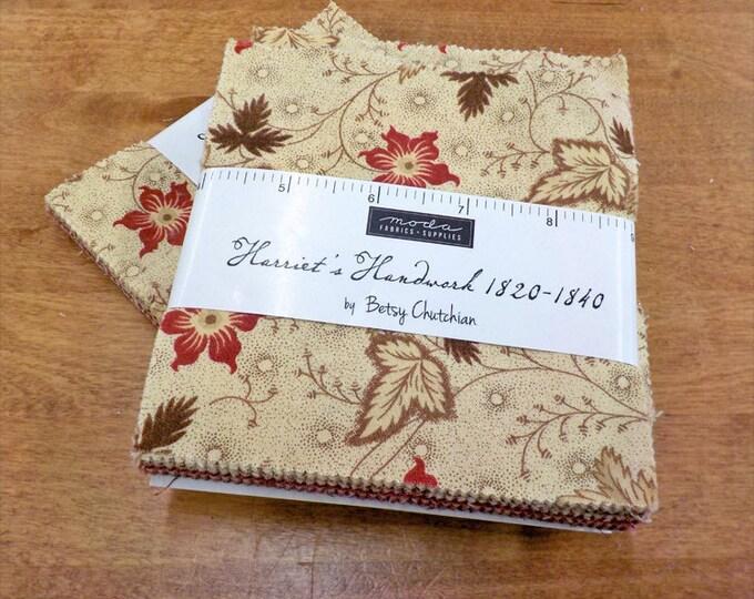 Harriet's Handwork 1820-1840 charm pack by Betsy Chutchian for Moda Fabrics