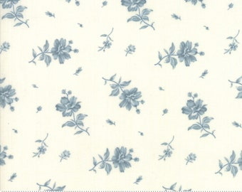 Northport Cream Blue 14883 11 by Minick and Simpson for Moda Fabrics