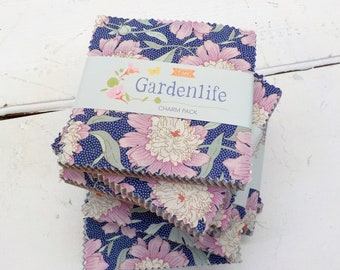 Gardenlife charm pack...a Tilda Collection designed by Tone Finnanger, 40 squares, 5 inch squares