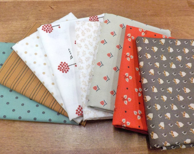 101 Maple Street by Bunny Hill Designs for moda fabrics...8 fat quarter bundle, curated bundle, cherry-picked bundle