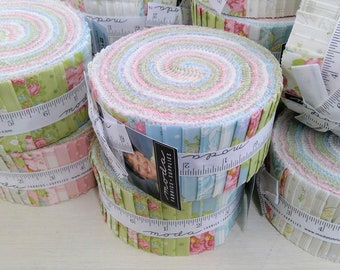 Bramble Cottage Jelly Roll by Brenda Riddle Designs for Moda Fabrics...40--2 1/2 inch strips