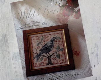Wild Berries, Loose Feathers Abecedarian series pattern 1 by Blackbird Designs...cross-stitch design