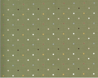 Folktale Magic Dot Olive 5124 15 by Lella Boutique for Moda Fabrics