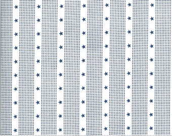 Harbor Springs Cream Blue 14908 34 by Minick and Simpson for Moda Fabrics