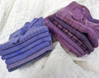 Wool 6-Pack...6 coordinating wools approximately 6 1/2 x 7 1/2 inches...2 violet options