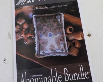 Abominable Bundle by Plum Street Samplers...cross stitch pattern, Christmas cross stitch