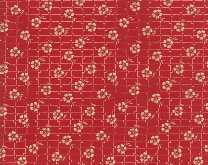 Farmhouse Reds Red 14852 11 by Minick & Simpson for moda fabrics