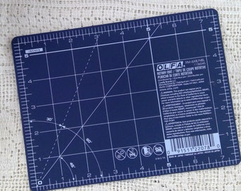 Olfa mini mat...5 1/2 x 7 1/2 inches...travel mat, EPP mat, small mat, navy