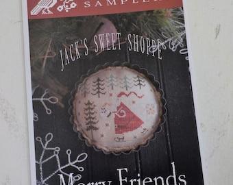 Merry Friends, Jack's Sweet Shoppe, by Plum Street Samplers...cross stitch pattern, Christmas cross stitch
