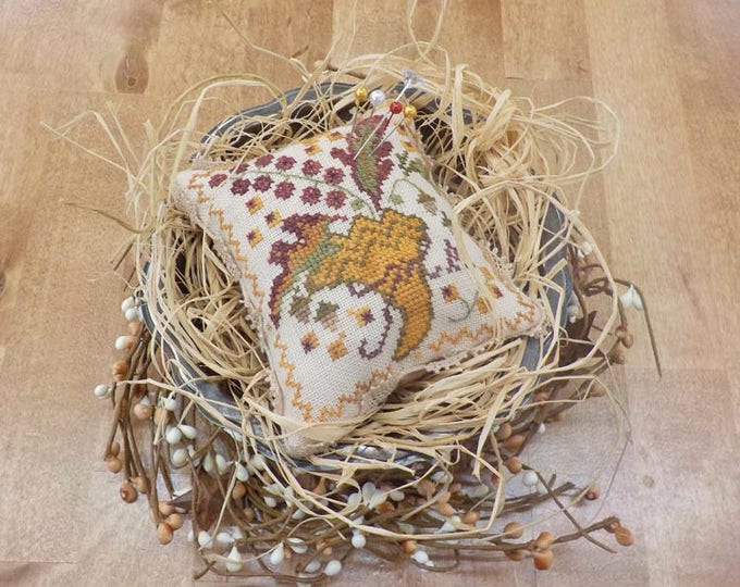 Give Thanks, second in the sewing box series, by Blackbird Designs...cross stitch pattern, thanksgiving cross stitch
