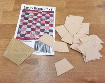 Betsy's Thimbles by Betsy Chutchian papers and template...1 x 1 inch thimble papers...42 pieces, laser cut