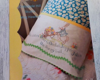 Here Comes Peter Cottontail pillowcase pattern by Meg Hawkey of Crabapple Hill Studio