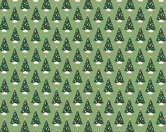 Christmas Traditions Trees Green C9591-GREEN by Dani Mogstad for Riley Blake Designs...christmas