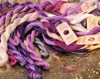 Grape Juice Thread Pack of 10 skeins of Edmar Thread.