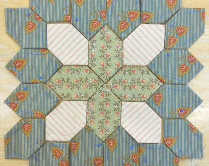 Lucy Boston Patchwork of the Crosses civil war block kit #12