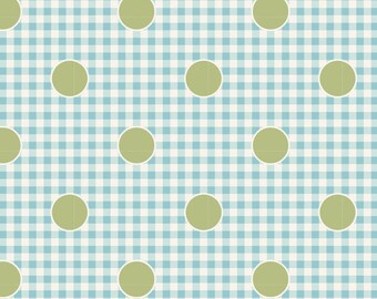 Happy Campers...100240 Gingdot Teal...a Tilda Collection designed by Tone Finnanger