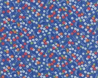 Feed Sacks True Blue Cornflower 23308 12 by Linzee Kull McCray for Moda Fabrics