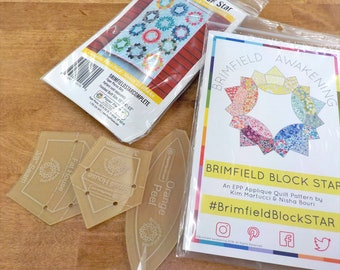 Brimfield Awakening...Block Star package...pattern, acrylic templates, and paper pieces