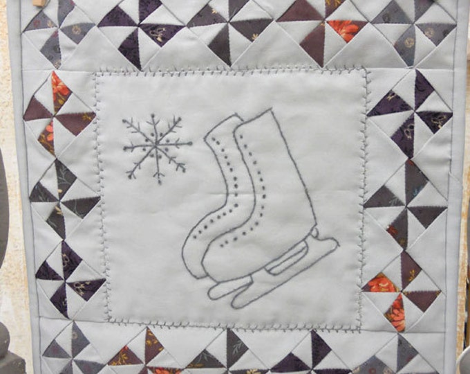 Schoolhouse Skates kit...pattern designed by Mickey Zimmer for Sweetwater Cotton Shoppe