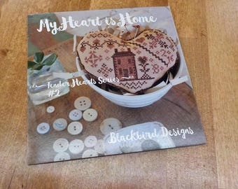 My Heart is Home, Tender Hearts Series #2, by Blackbird Designs...cross-stitch design