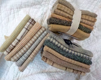 Wool 6-Pack...6 coordinating wools approximately 6 1/2 x 7 1/2 inches...3 low volume options