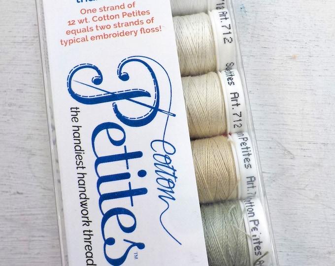 Neutrals Cotton Petites, the handiest handwork thread, Sulky thread, 6 colors, 12 wt thread