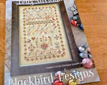Feliz Navidad, Number 2 in the Christmas Sampler Series, by Blackbird Designs...cross-stitch design