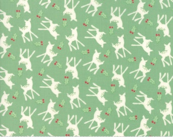 Deer Christmas Spearmint 31164 14 by Urban Chiks for Moda Fabrics