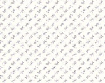 Bee Backgrounds Bicycle C6389-GRAY by Lori Holt of Bee in My Bonnet for Riley Blake Designs