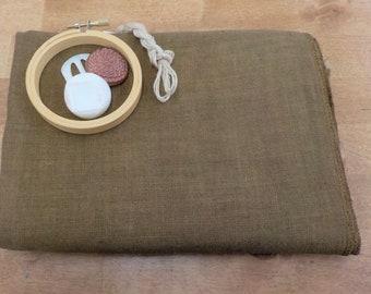 R & R Reproductions, Chestnut, 32 ct, Fat Quarter, 100% linen, cross stitch linen