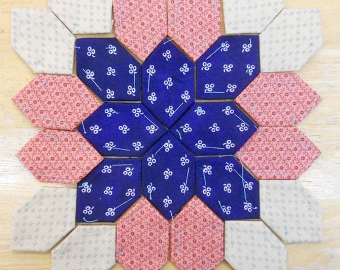 Lucy Boston Patchwork of the Crosses civil war block kit #15