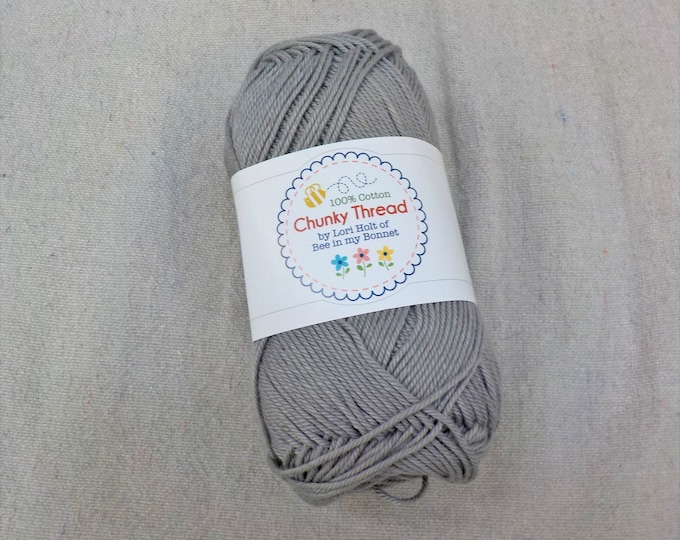 Chunky Thread by Lori Holt of Bee in my Bonnet...riley gray, 50 grams, 140 yards, 128 meters