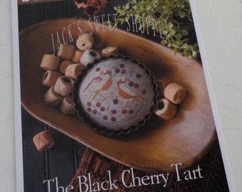 The Black Cherry Tart, Jack's Sweet Shoppe, by Plum Street Samplers...cross stitch pattern, autumn cross stitch