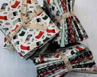 Christmas Traditions...10 fat quarter bundle by Dani Mogstad for Riley Blake Designs...exclusive grouping