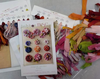 Imagine Garden by MJ Hiney...the Ribbon Muse...complete kit with instructions