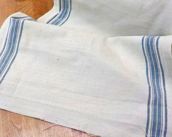 Rural Jardin 16 inch toweling natural with woad stripes by Moda Fabrics