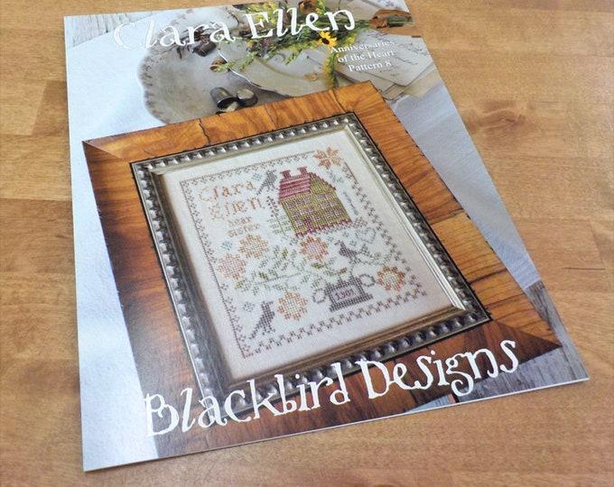 Clara Ellen, Anniversaries of the Heart Pattern 8, by Blackbird Designs...cross-stitch design