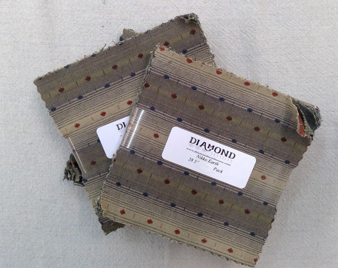 Nikko Earth...charm pack...5 inch squares...28 squares...Diamond Textile Wovens