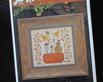 Babushka's Blossoms by Plum Street Samplers...cross stitch pattern, Halloween cross stitch, autumn cross stitch