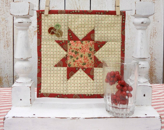 Christmas Star, a Sweet Delight, complete kit...pattern designed by Mickey Zimmer for Sweetwater Cotton Shoppe