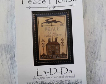 Peace House by La-D-Da...cross stitch pattern, cross stitch