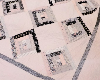 Grace quilt kit...designed by Mickey Zimmer for Sweetwater Cotton Shoppe, pink, grey, and black quilt kit