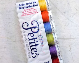 Summer Cotton Petites, the handiest handwork thread, Sulky thread, 6 colors, 12 wt thread