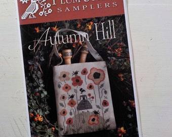 Autumn Hill by Plum Street Samplers...cross stitch pattern, autumn cross stitch